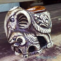 Аромалампа «Семейство слонов»