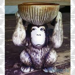 Аромалампа «Обезьянка с чашей»