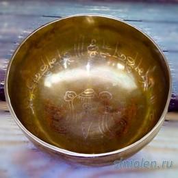 Поющая чаша ручной ковки c изображением символа истины