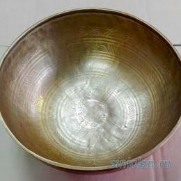 Большая поющая чаша ручной ковки с узорами
