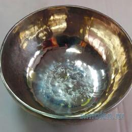 Большая поющая чаша ручной ковки с метеоритным железом