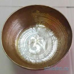 Поющая чаша ручной ковки с барельефом