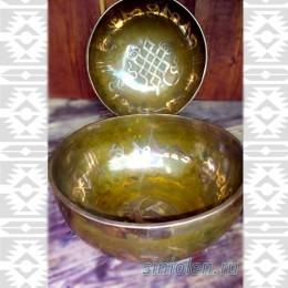 Поющая чаша ручной ковки с мантрами