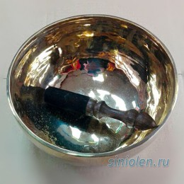 Поющая чаша ручной ковки с вплавлением старых изделий