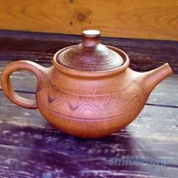 Чайник глиняный заварочный
