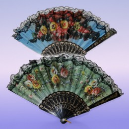 Веер для испанских танцев «Цветы»